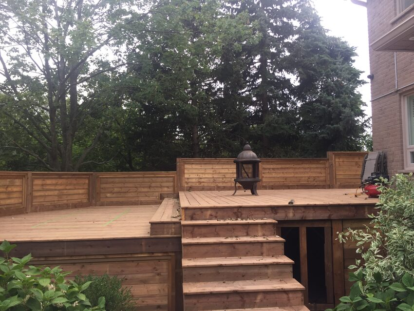 Image of pressure treated deck
