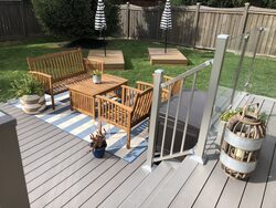 image of composite deck and glass and aluminum railing